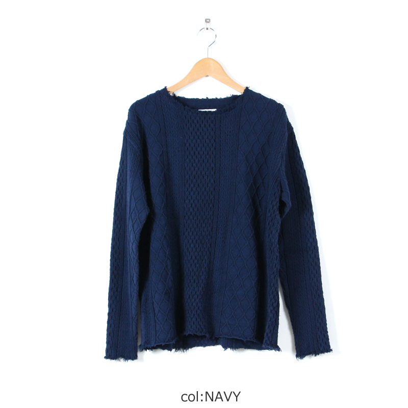 CAL O LINE(キャルオーライン) CUT OFF CABLE LONG SLEEVE TEE