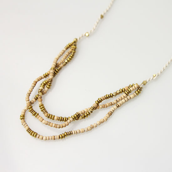 CERASUS(ケラスス) Wood&Brass String ネックレス