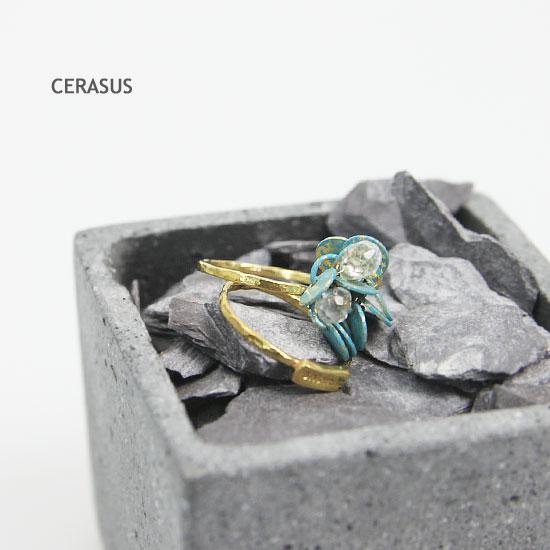 CERASUS(ケラスス) Green paint Chain2連リング
