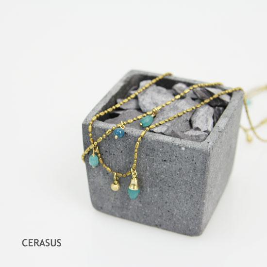 CERASUS(ケラスス) シャーベットアゲートロングネックレス