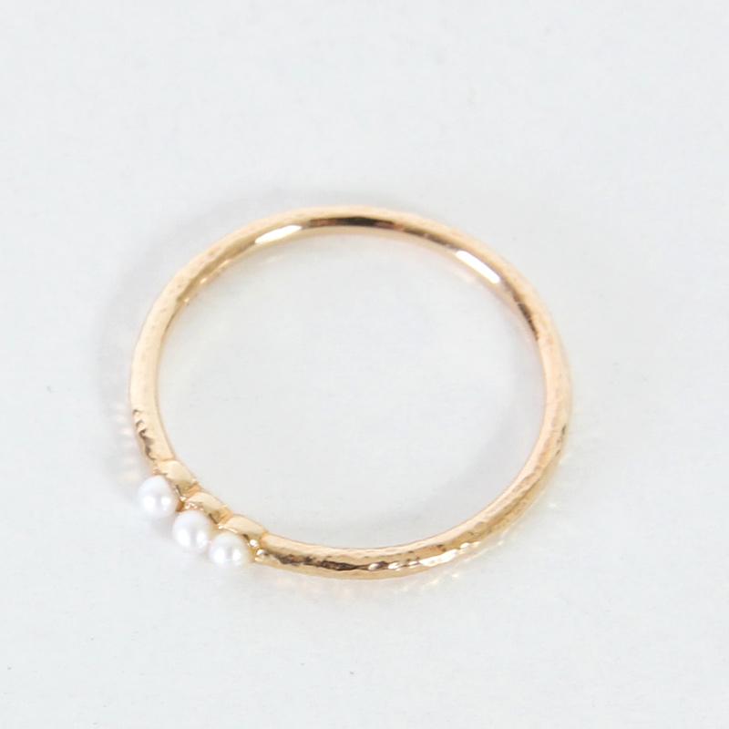 CERASUS(ケラスス) Three pearl リング