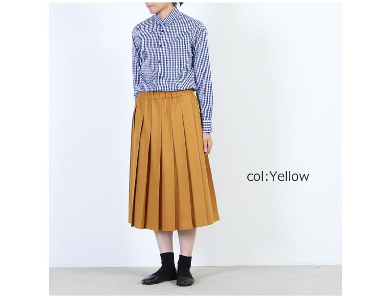 Charpentier de Vaisseau(シャルパンティエ ドゥ ヴェッソ) Pleated Skirt Wool