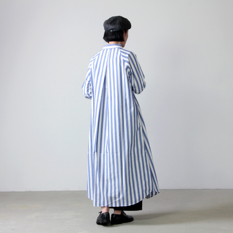 Commencement(コメンスメント) Stripe over shirts onepiece