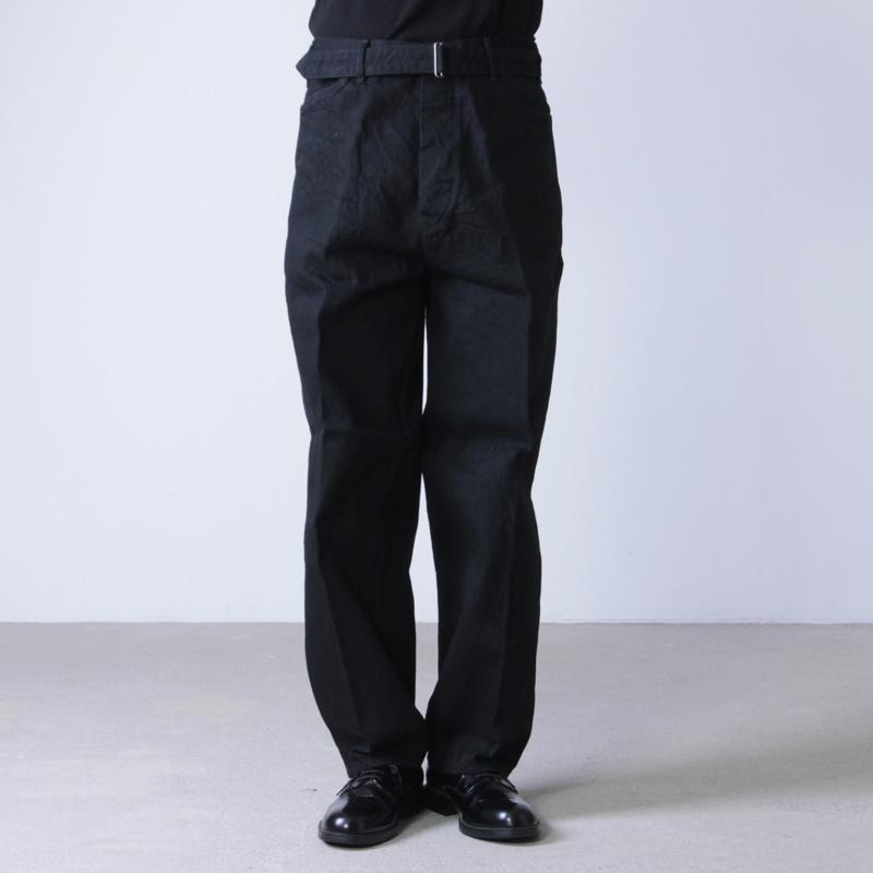 COMOLI(コモリ) デニム ベルテッドパンツ