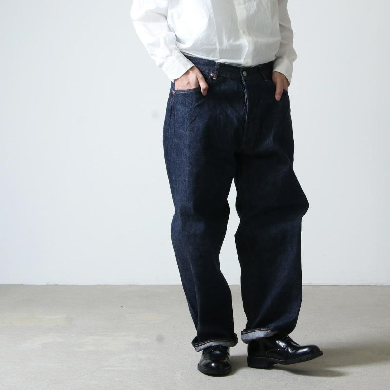 COMOLI(コモリ) デニム 5Pパンツ NAVY