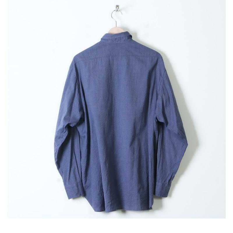 COMOLI(コモリ) ヨリ杢 ワークシャツ