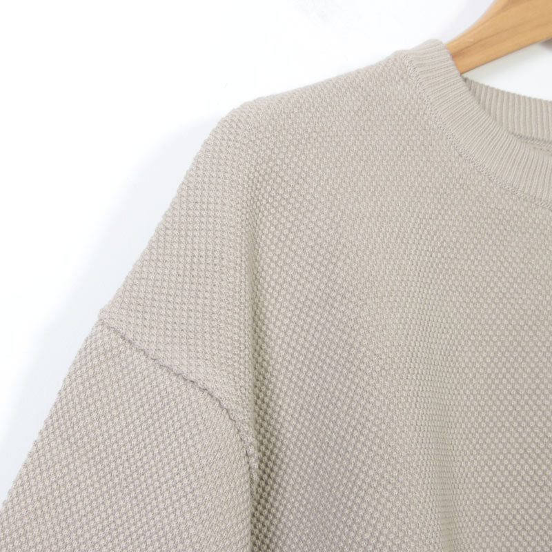 crepuscule(クレプスキュール) moss stitch L/S sweat for woman