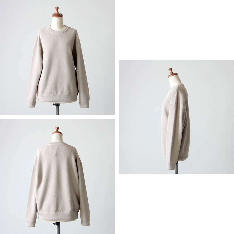 crepuscule(クレプスキュール) Cotyle別注 moss stitch L/S sweat for woman
