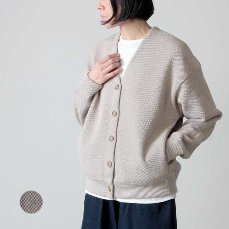 crepuscule (クレプスキュール) Cotyle別注 moss stitch V/N cardigan for woman / コチレ別注モススティッチVネックカーディガン レディースサイズ