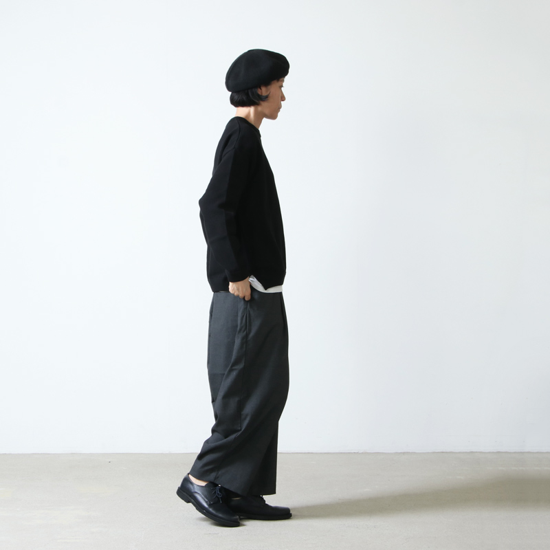 crepuscule(クレプスキュール) Moss stitch crew slit for woman