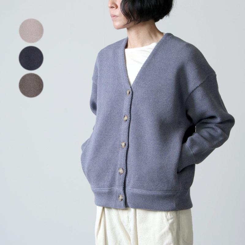 crepuscule (クレプスキュール) Moss stitch V/N cardigan for woman / モススティッチVネックカーディガン レディースサイズ