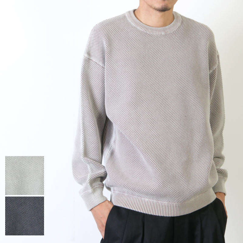 crepuscule(クレプスキュール) stone wash moss stitch pullover