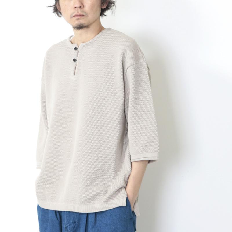 crepuscule(クレプスキュール) moss stitch S/S skipper