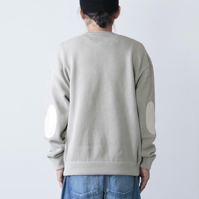crepuscule(クレプスキュール) moss stitch L/S sweat