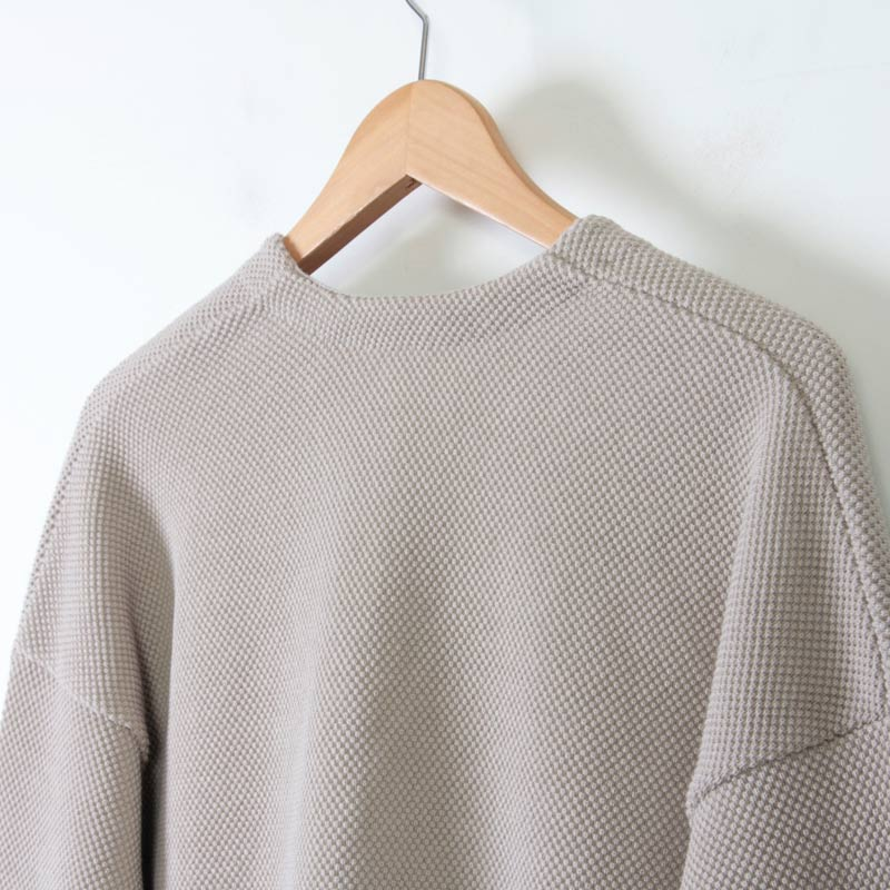 crepuscule(クレプスキュール) Cotyle別注 moss stitch V/N cardigan