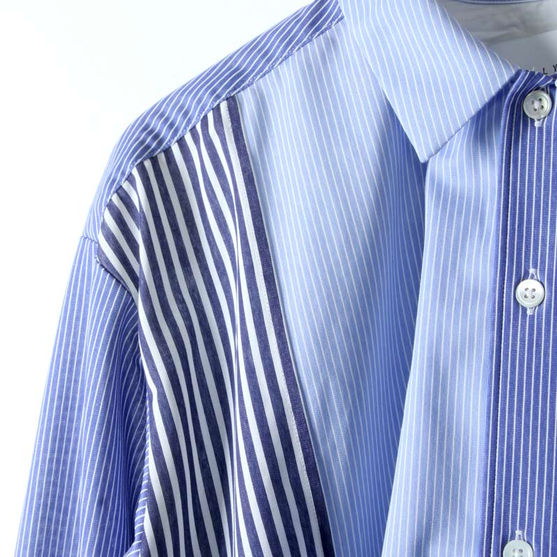 CURLY(カーリー) CLOUDY L/S SHIRTS -Panel Stripe-