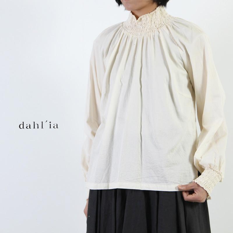 dahl'ia(ダリア) パナマコットンプルオーバーブラウス