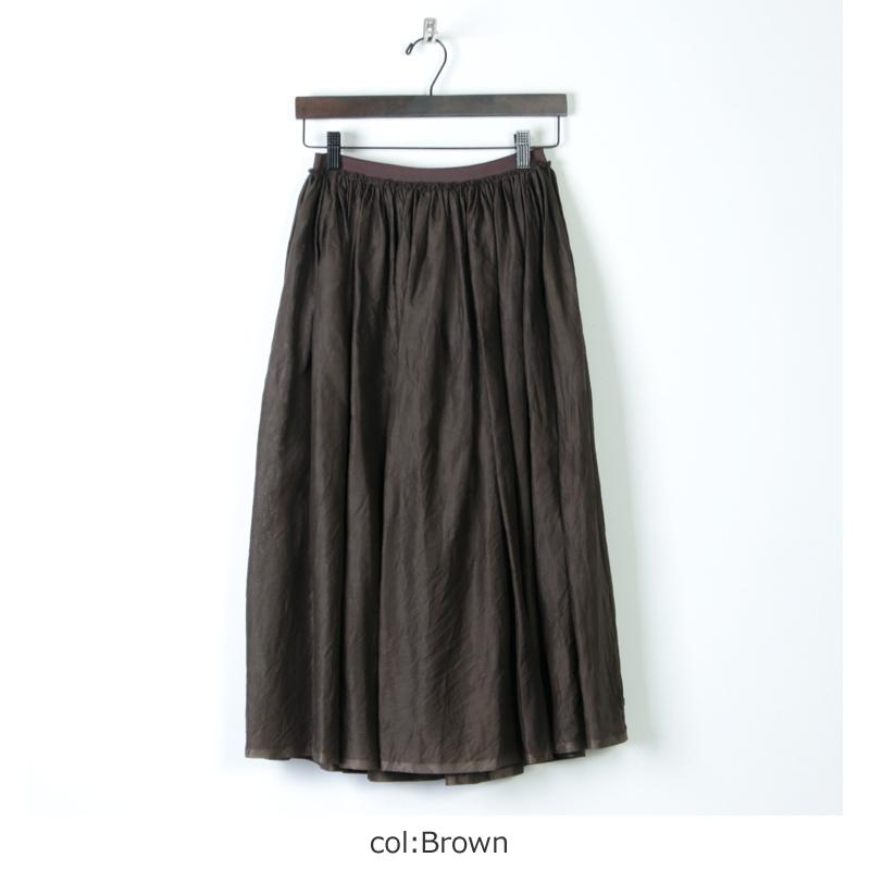 dahl'ia(ダリア) オーガンジー ウエスト切り替えギャザースカート