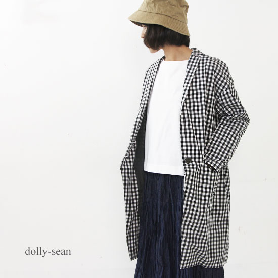 dolly-sean(ドリーシーン) ギンガムチェックロングジャケット