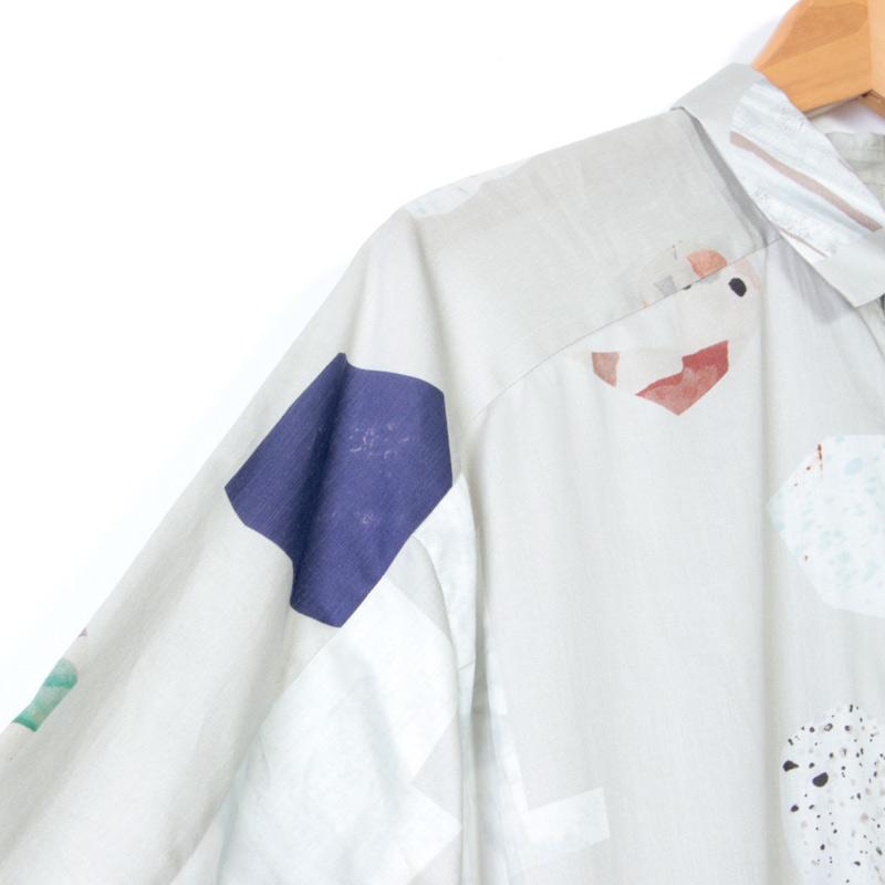 Dulcamara(ドゥルカマラ) ストーンパターンヨークスリーブシャツ