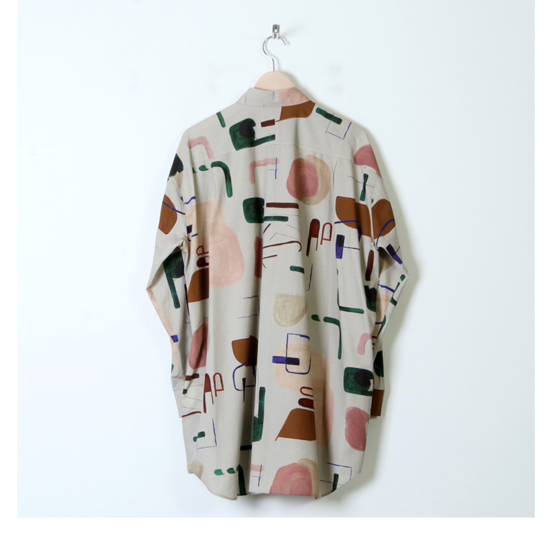 Dulcamara(ドゥルカマラ) ライブラリープリントヨークスリーブシャツ