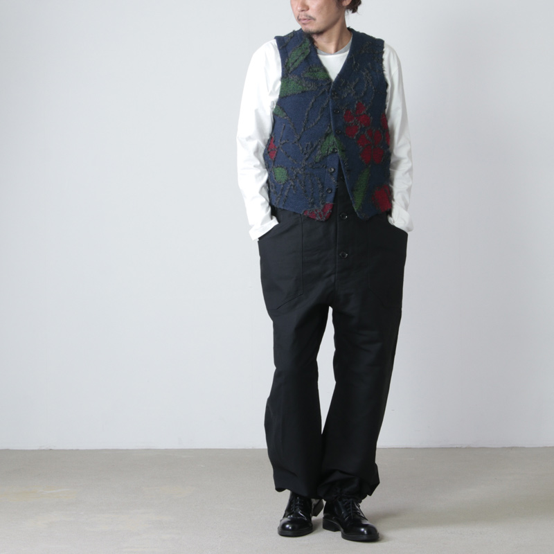 ENGINEERED GARMENTS(エンジニアードガーメンツ) Knit Vest - Floral Knit Jacquard