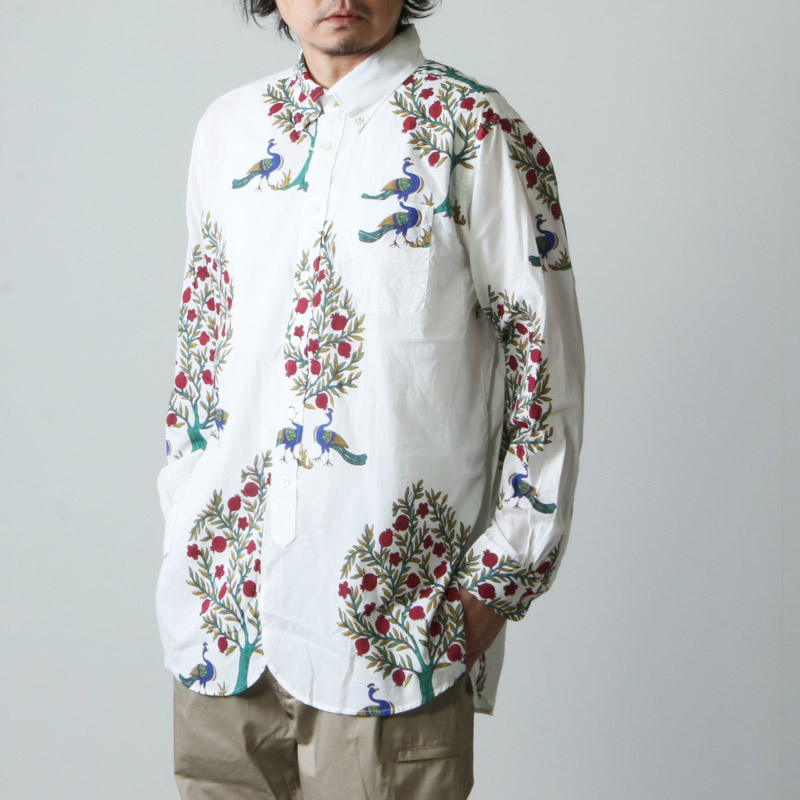 ENGINEERED GARMENTS (エンジニアードガーメンツ) 19 Century BD Shirt -Cotton Lawn Peacock Print / ボタンダウンシャツ