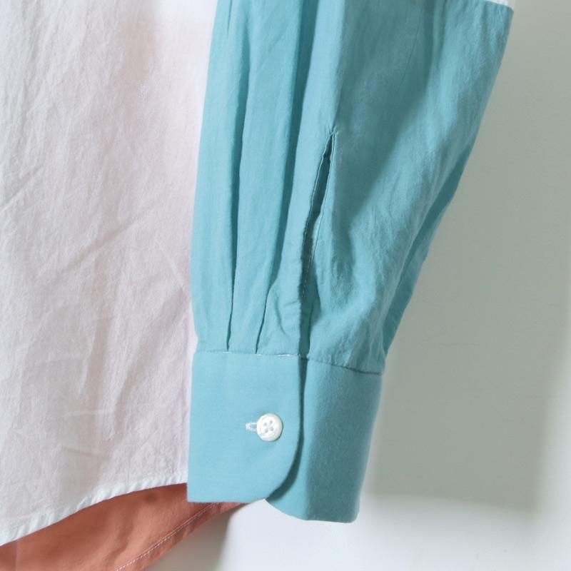 ENGINEERED GARMENTS(エンジニアードガーメンツ) Combo Short Collar Shirt -Solid Cotton Lawn
