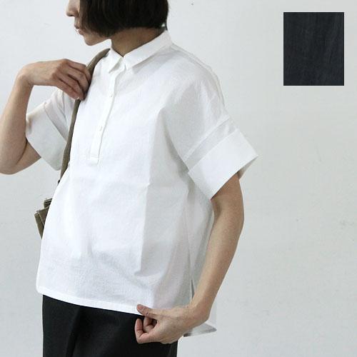 evameva (エヴァムエヴァ) Swiss cotton turn buck cuffs shirt