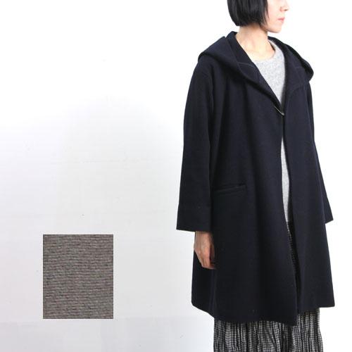 evameva (エヴァムエヴァ) Lambs wool hooded coat