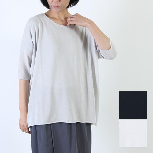 evameva (エヴァムエヴァ) High gauge cotton pullover