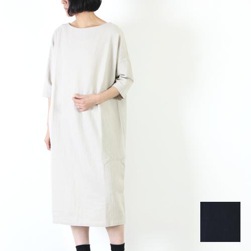 evameva (エヴァムエヴァ) Cotton linen dolman onepiece