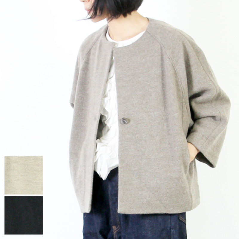evameva(エヴァムエヴァ) Press wool short coat