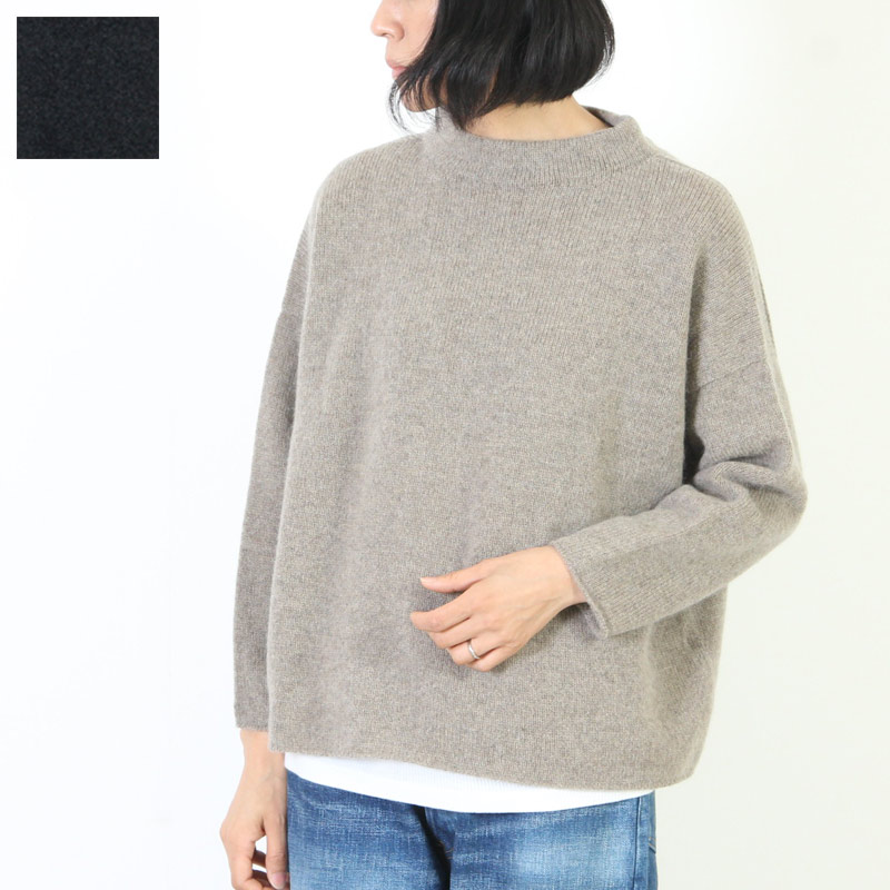 evameva (エヴァムエヴァ) Stand pullover / スタンドプルオーバー