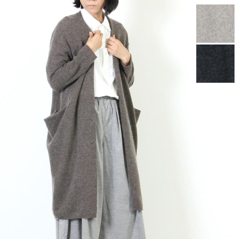 evameva (エヴァムエヴァ) Drop pocket robe / ドロップ ポケットローブ