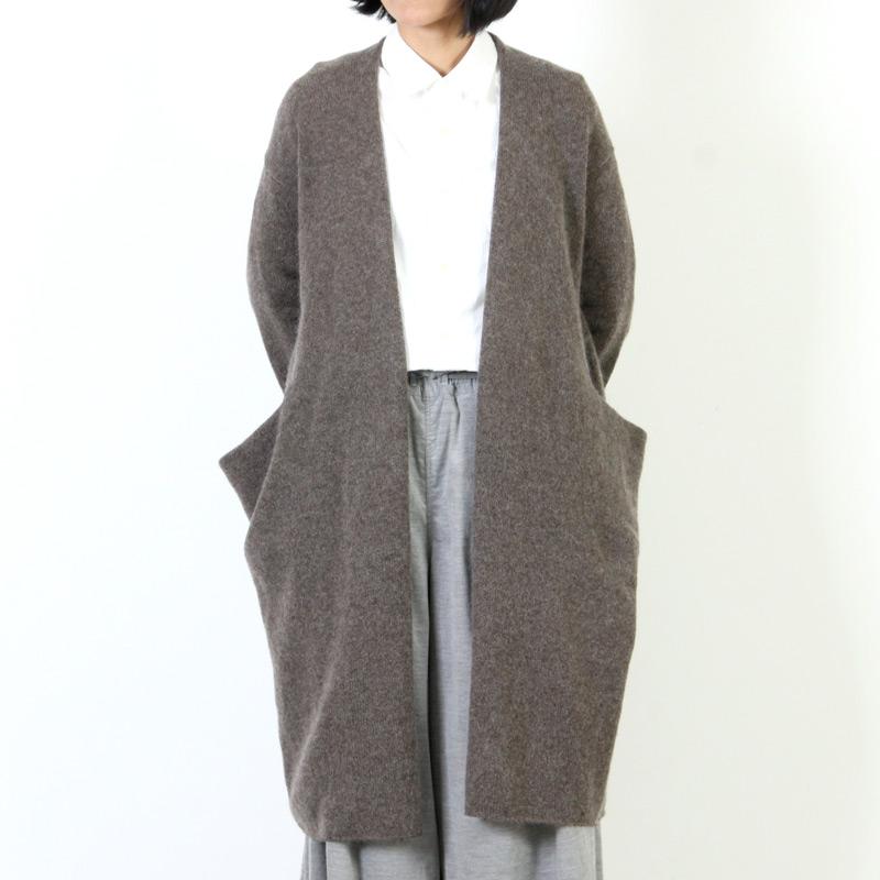 evameva(エヴァムエヴァ) Drop pocket robe
