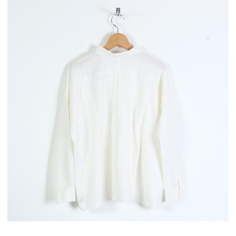 evameva(エヴァムエヴァ) Cotton cashmere square shirt