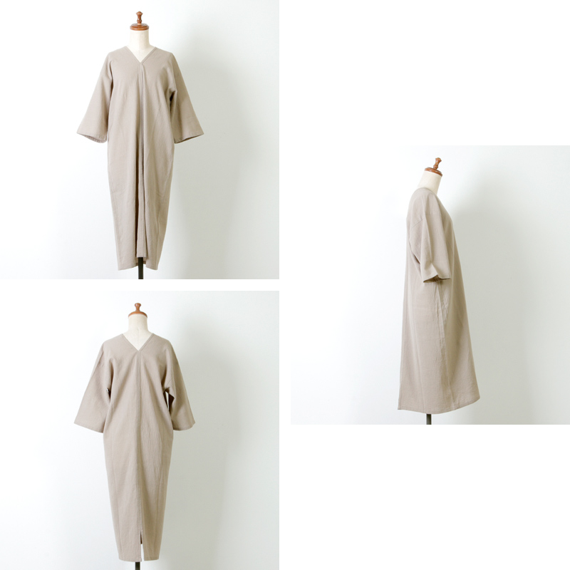 evameva(エヴァムエヴァ) Cotton linen onepiece