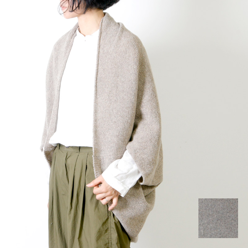 evameva(エヴァムエヴァ) Wool cotton ring bolero