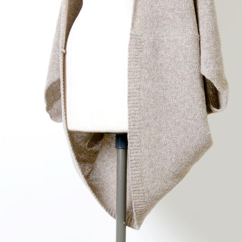 evameva(エヴァムエヴァ) Wool cotton ring bolero