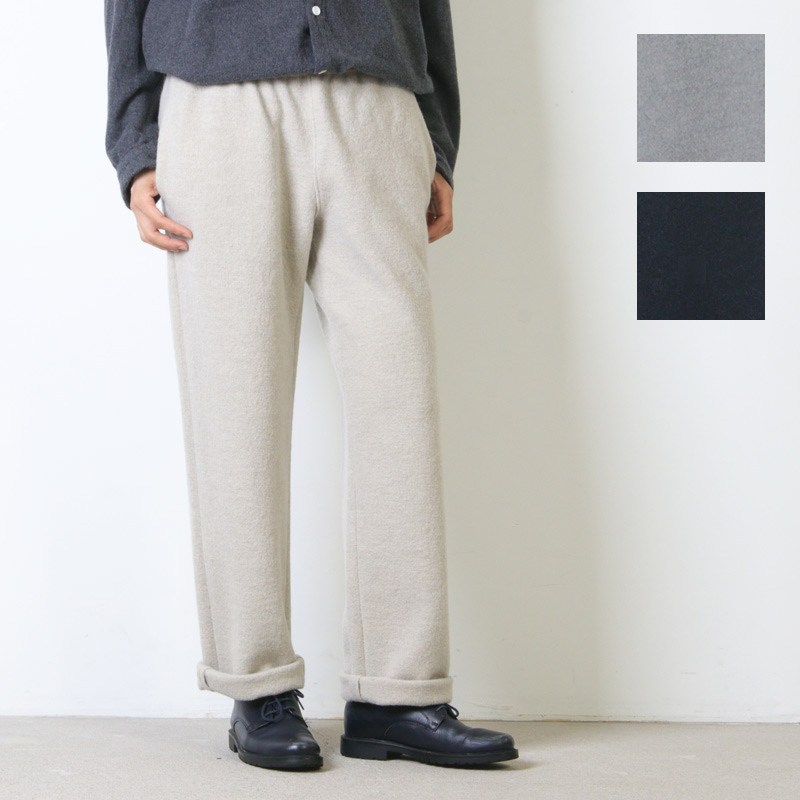 evameva (エヴァムエヴァ) Press wool straight pants / プレスウール ストレートパンツ