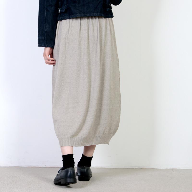 evameva(エヴァムエヴァ) Double coverring tuck skirt