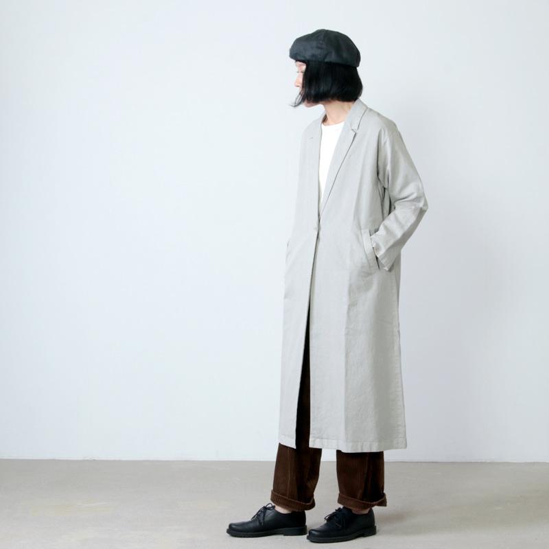 evameva(エヴァムエヴァ) cotton paper long jacket