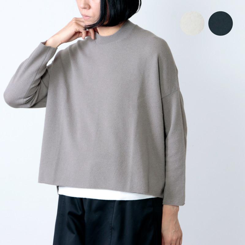 evameva (エヴァムエヴァ) wool cashmere wide PO / ウールカシミアワイドプルオーバー