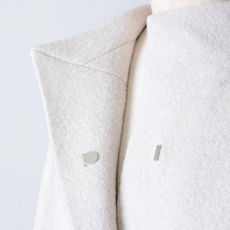 evameva(エヴァムエヴァ) press wool long coat
