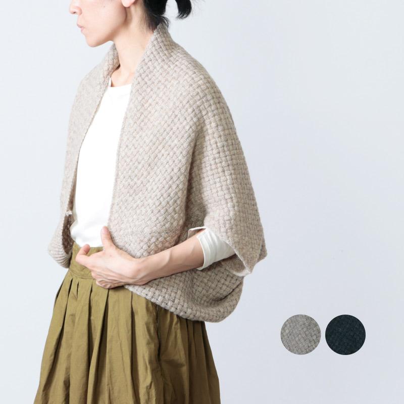 evameva (エヴァムエヴァ) lamb wool basket bolero / ラムウールバスケットボレロ