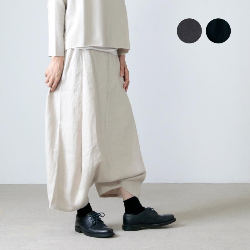evameva (エヴァムエヴァ) raising linen sarrouel pants / ライジングリネンサルエルパンツ