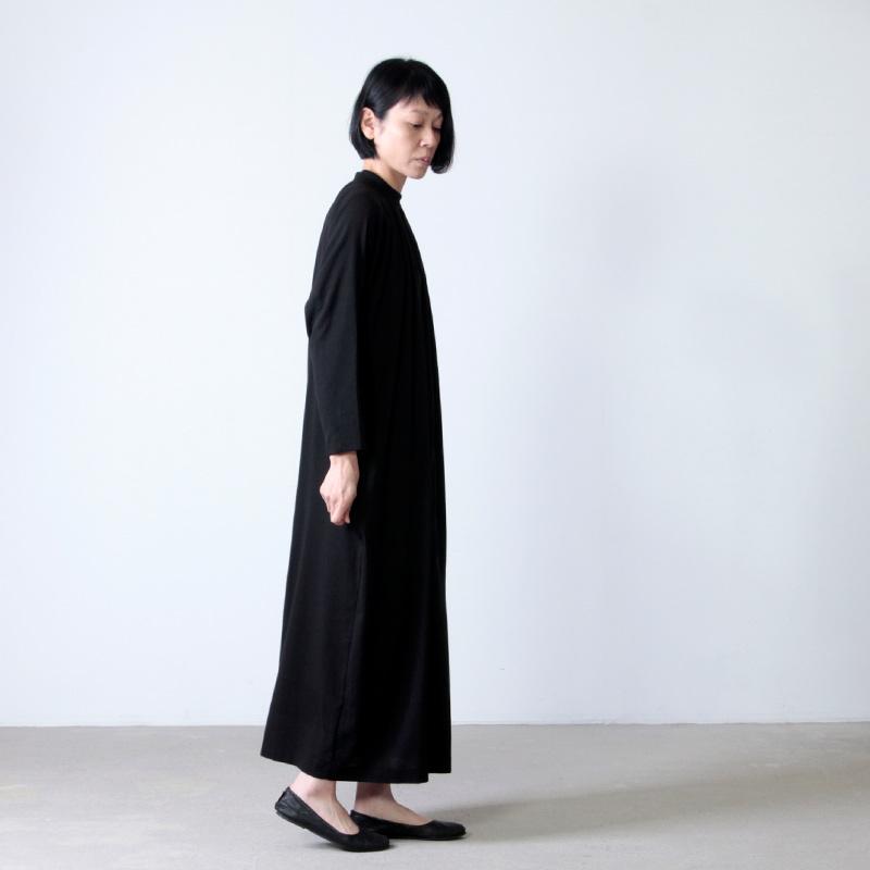 evameva(エヴァムエヴァ) cotton double stand collar OP