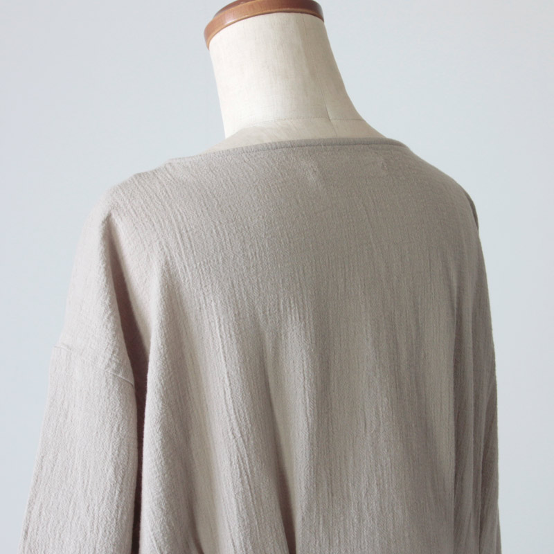 evameva(エヴァムエヴァ) cotton linen drop pocket OP