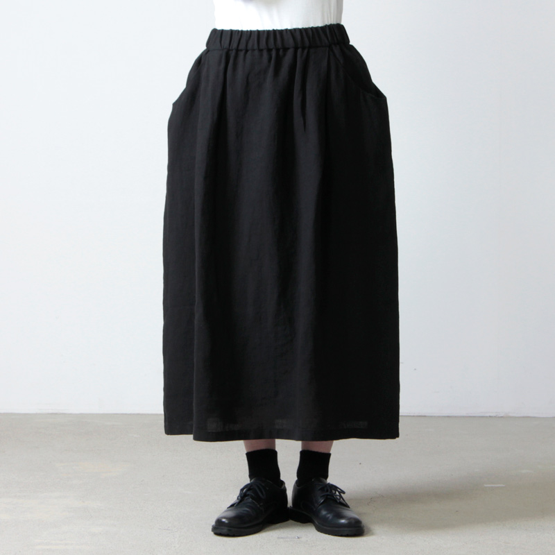 evameva(エヴァムエヴァ) linen drop pocket skirt